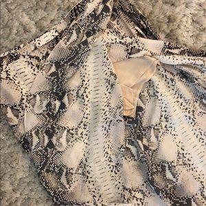 605445e465 Haute Hippie Skirts - Haute Hippie snake print maxi skirt with high slit
